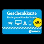 40 Euro Einkaufsgutschein Conrad Electronic