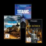 Doku-Film-Bundle Discovery World: Eisenbahn, Römer, Titanic
