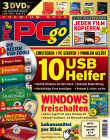 PCgo Premium Gold mit drei DVD's (Heft-Themen-DVD, Spielfilm Film-DVD und Spezial-Themen DVD) in jeder Ausgabe und eine Prämie Ihrer Wahl