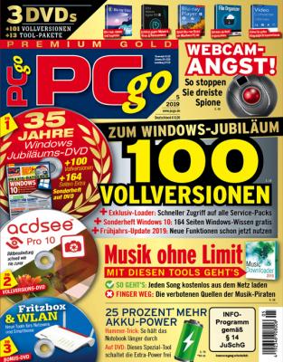 PCgo Premium Gold XXL mit 3 DVDs in jeder Ausgabe, 1 Jahres-DVD mit den PDF Ausgaben der letzten zwei Jahre sowie eine Prämie Ihrer Wahl.