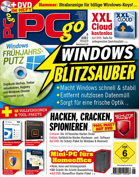 PCgo DVD XXL mit einer Heft-Themen-DVD in jeder Ausgabe + einer Jahres-DVD (alle Inhalte der letzten zwei Jahre) und eine Prämie Ihrer Wahl
