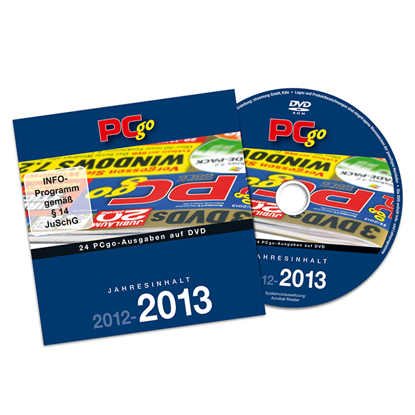 PCgo XXL-DVD: Jahresarchiv 2012/2013