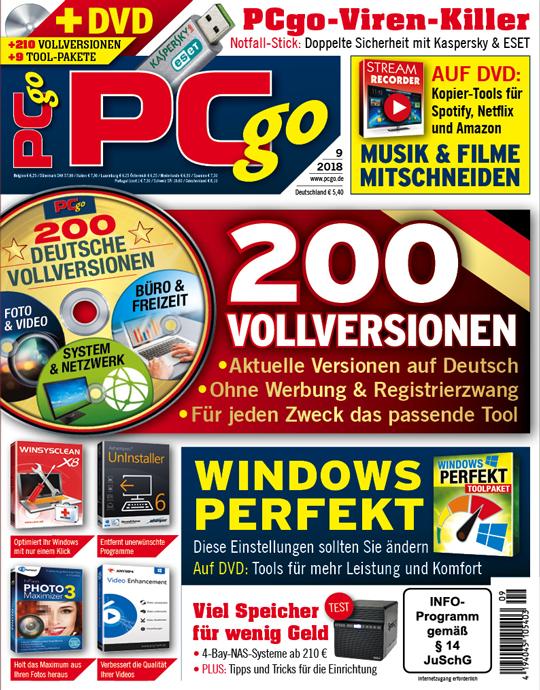 PCgo DVD Ausgabe: 9/2018